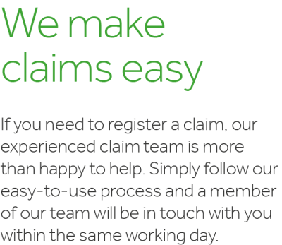 We make claims easy